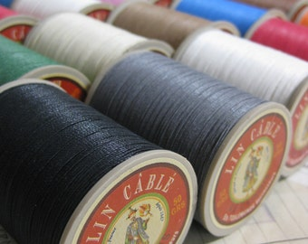 Fil au Chinois Linen Cable No.432 Waxed Corded Linen Leatherwork Thread 0.63 mm- 50g Spool