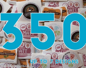 350 - Custom Stickers Square, Circle, Rectangle or Oval Custom Labels - Waterproof Premium Vinyl