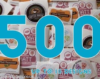 500 - Custom Vinyl Stickers cut to any shape - Waterproof Premium Vinyl