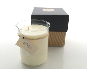750mL Soy Beaker Candle, Hand Poured