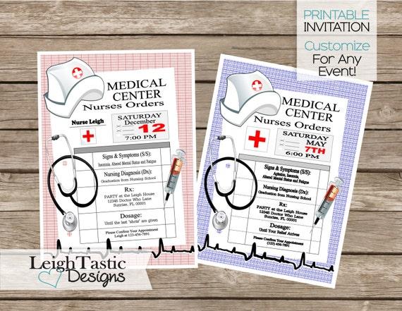 SALE Printable Nurse Graduation Invitation RN BSN Nurse – Nurse Graduation Invitations