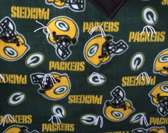 NFL Green Bay Packers fleece blanket.