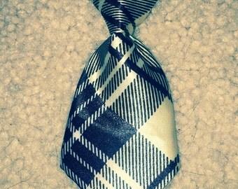Tan & Black Dog Neck Tie