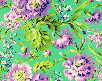 Amy Butler Love Bliss Bouquet Fabric - Emerald - Sold by the 1/2 yard)