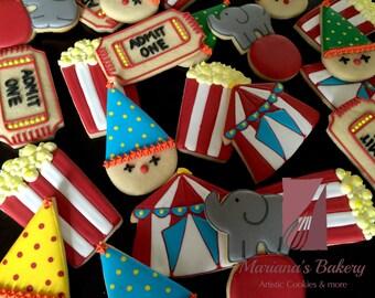 Circus sugar Cookies (1 dozen)