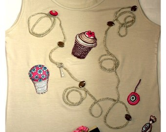 "T- shirt  handmade for woman/girl  ""ZigZag"""