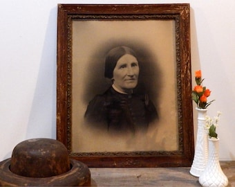 Antique Photograph Instant Ancestor Large Family Portrait 1800s Victorian