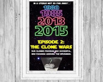 Customizable Star Wars Baby Announcement/pregnancy reveal/ may the force be with you/ pregnancy announcement