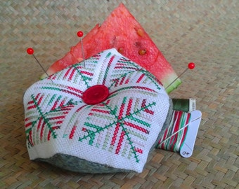 Bicornu Pincushion Pattern - Watermelon
