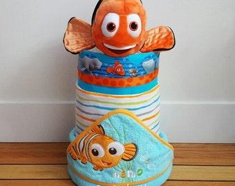 Gender Neutral Baby Shower Diaper Cake Finding Nemo Diaper Cake Finding Dory Diaper Cake Gender Neutral Disney Diaper Cake