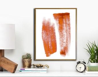 "Watercolor Painting Printable Art, Abstract Art Print, INSTANT DOWNLOAD Printable wall art, 11""x14"". Orange."