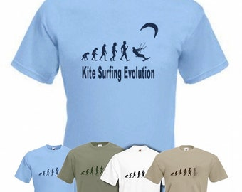 Evolution to Kitesurfing t-shirt Funny Power Kite T-shirt sizes S TO XXL