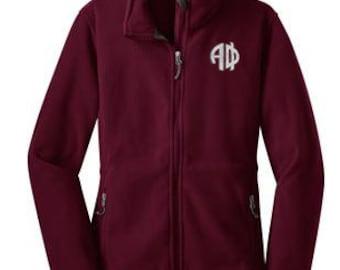 Alpha Phi Monogram Fleece Jacket