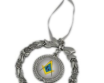 Masonic Pewter Holiday Ornament