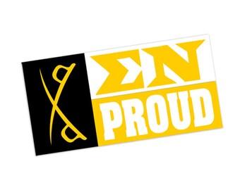 Sigma Nu Proud Bumper Sticker
