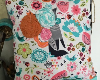 REDUCED PRICE!! Decorative fox pillow for girls room
