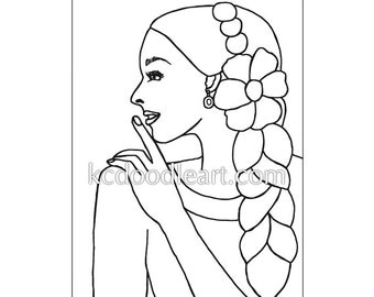 instant digital download - doodle template