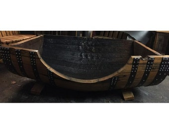 Solid Oak Whisky Barrel XXL Dog Bed