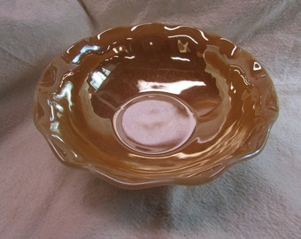 Peach Luster Serving Bowl