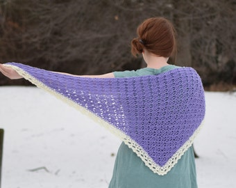 Lovely lacy lilac shawl