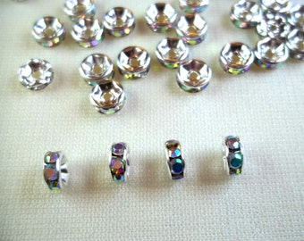 Crystal Spacer Rondelle - Jewelry Making, DIY Jewelry