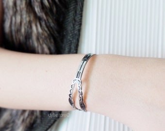 Bohemian Tribal Bangle / Ancient Pattern with Arrow/ Antique Bangle / Adjustable