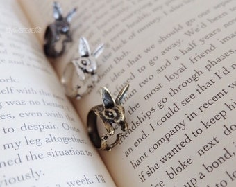 Cute Bunny Rabbit Ring / Adjustable / Free size