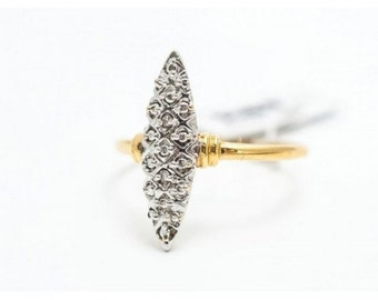 Ring Mineralife Marquise both grey and yellow gold with diamond