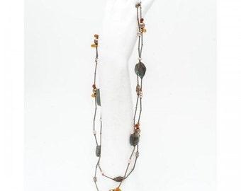 Collar necklace Mineralife in silver and semi-precious stones