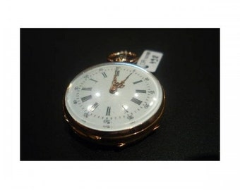 Necklace Mineralife watch in rose gold 1900s