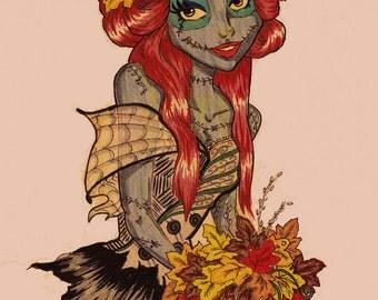 The Pumpkin Bride - print