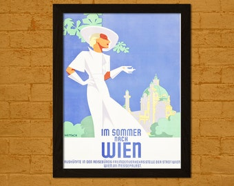 Get 1 Free Print *_* Vienna Travel Poster 1935 -  Vintage Travel Print Dorm Poster Wall Decor Home Decor Retro Travel Austria Poster