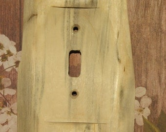 Single Toggle Slab Switchplate, Switch Cover, Wall Plate, Wood Switchplate, Wood Slab Switchcover, Single