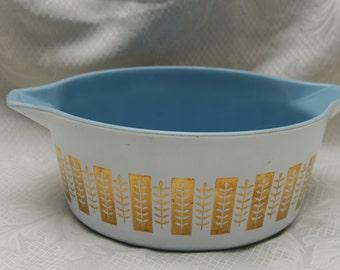 Vintage Pyrex Delphite Blue Gourmet Casserole 2 1/2 Quart