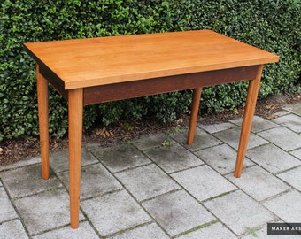 Mid Century Modern Rustic Desk Table Solid Cherrry Wood