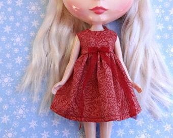 Peach/Red Blythe Dress