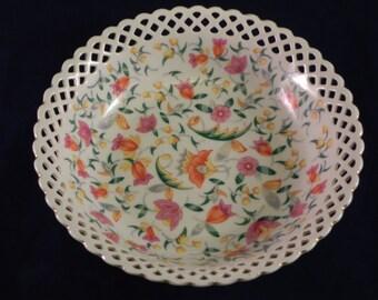 Schumann Bavarian Reticulated Floral Bowl