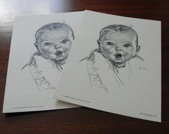 Vintage Gerber Baby Litho Prints