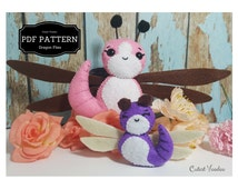 Dragonfly Mother and Baby PDF Felt Pattern