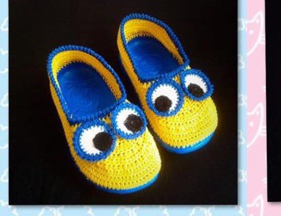 Free Pattern Crochet Minion Slippers : minion crochet slipper crochet minion shoe minions for