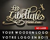 Wooden Hand Cut Logo // Custom Wooden logo // cut wooden logo sign //  Wooden Business Sign // wooden Signage // Office decor //  NO LASER