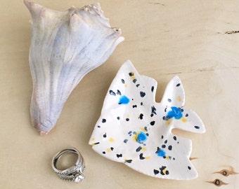 Ring Dish - Ring Tray - Jewelry Dish - Ring Holder - Ceramic Ring Dish - Housewarming Gift - Home Decor - Pottery Fish Ring Tray - Ceramics