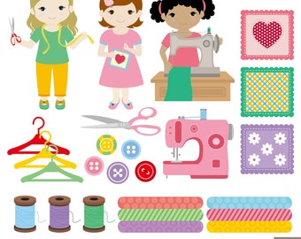 Sewing Clipart Digital Clipart