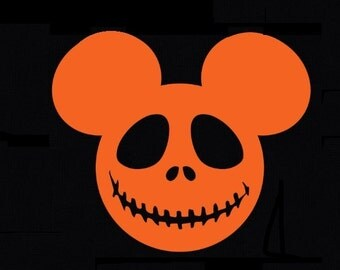 Nightmare Before Christmas Jack Skellington /Mickey Mouse  Halloween Iron On T-Shirt Transfer Image