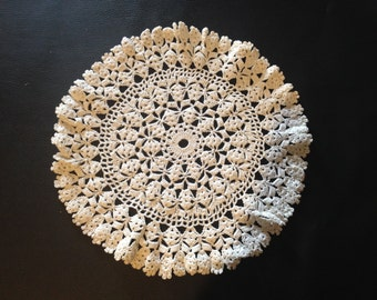French doily crocheted