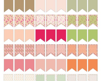 Shabby Chic Printable Page Flags