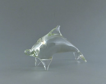 Clear Glass Dolphine