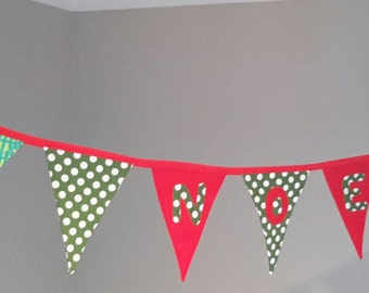 NOEL! - Beautiful Christmas Decoration Bunting/Banner.