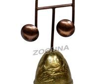 Vintage Brass Bell Handmade Dinner Call Bells Music Note HC0166 (Free Shipping)