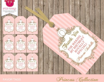Printable Princess Party Favor Tags | Personalized
